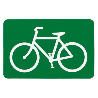 Cyclist Bicycle Sign Cycle Bike Cycling Symbol Magnet