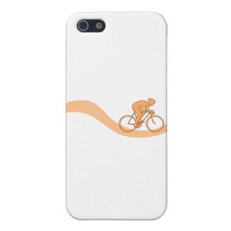 Cyclist Design in Orange iPhone 5 Cases