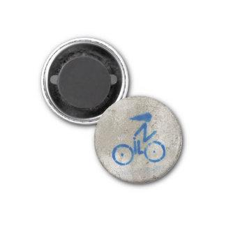 Cyclist Graffiti Card 1 Inch Round Magnet