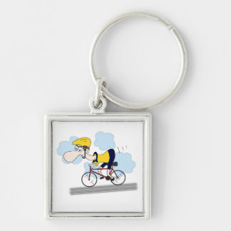 Cyclist Keychain