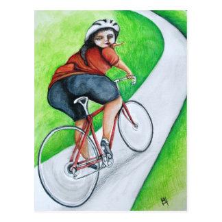 Cyclist - Kiss Goodbye Postcard