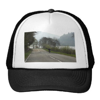 Cyclist next to a Loch in the Scottish Highlands Mesh Hat