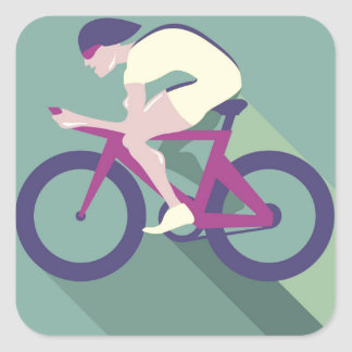 Cyclist racer Vector Square Sticker