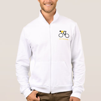 Cyclist riding his bicycle custom jacket
