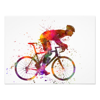 cyclist road bicycle photo print
