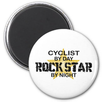Cyclist Rock Star by Night Magnet