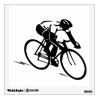 Cyclist Silhouette Bike Wall Sticker