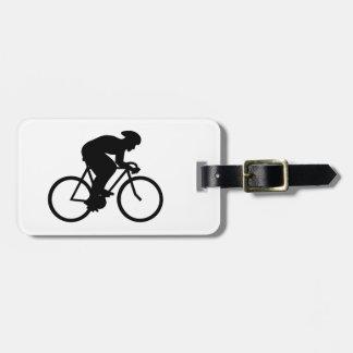 Cyclist Silhouette. Luggage Tag