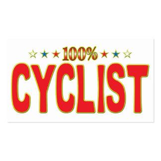 Cyclist Star Tag Business Card Templates