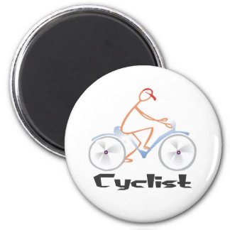 Cyclist T-shirts and Gifts. Magnet