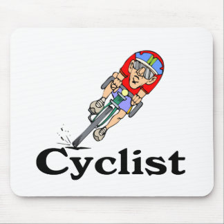 Cyclist T-shirts and Gifts. Mouse Pad