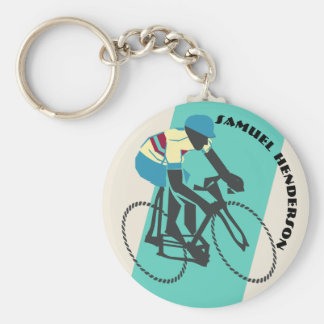 Cyclist (Turquoise) Keychain
