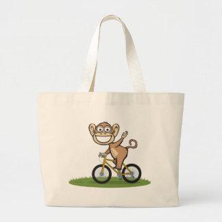 Cycliste de singe sac de toile