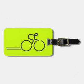 Cyclists cycling graphic bright custom luggage tag