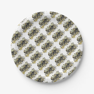 Cyclists Paper Plate
