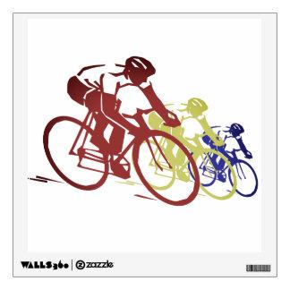 Cyclists Silhouette Bike Wall Decal Sticker