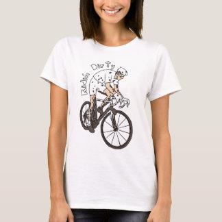 Cyclocross Rider Riding Dirty T-Shirt