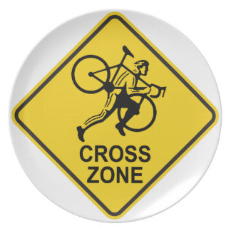 Cyclocross Zone Road Sign Plate