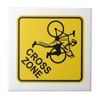 Cyclocross Zone Road Sign Tile