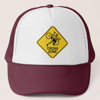 Cyclocross Zone Road Sign Trucker Hat