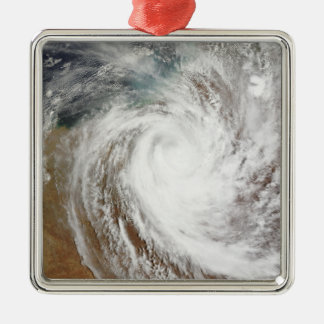 Cyclone Laurence moves far inland Silver-Colored Square Ornament