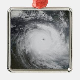 Cyclone Monica in the south Pacific Ocean Silver-Colored Square Ornament