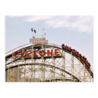 Cyclone Roller Coaster - Coney Island, postcard