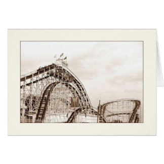Cyclone Rollercoaster Blank Greeting Card