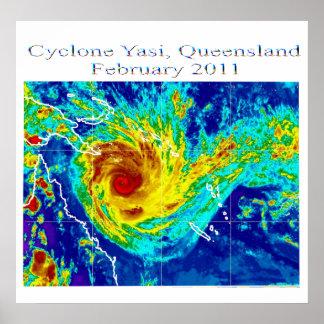 Cyclone Yasi 2, Queensland, february 2011 Poster
