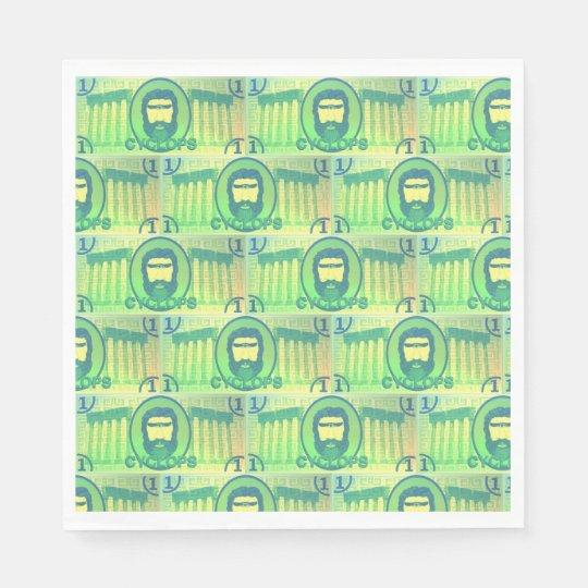 Cyclops Dollar paper napkins