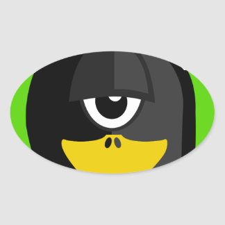 Cyclops Penguin Oval Sticker