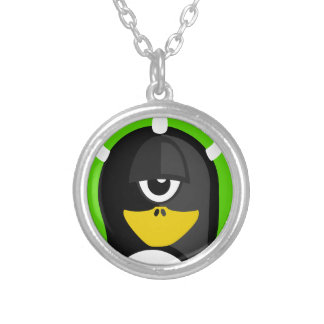 Cyclops Penguin Silver Plated Necklace