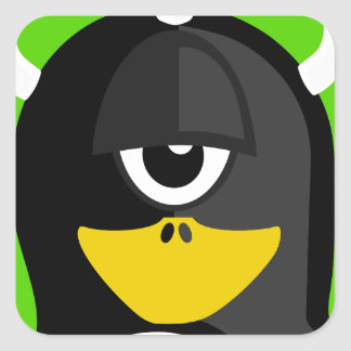 Cyclops Penguin Square Sticker