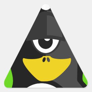Cyclops Penguin Triangle Sticker