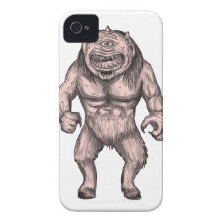 Cyclops Standing Tattoo iPhone 4 Cases