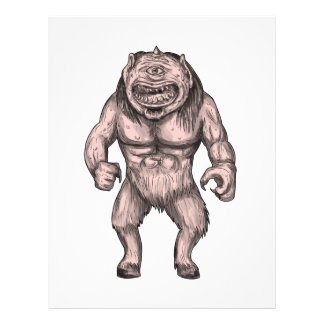 Cyclops Standing Tattoo Letterhead