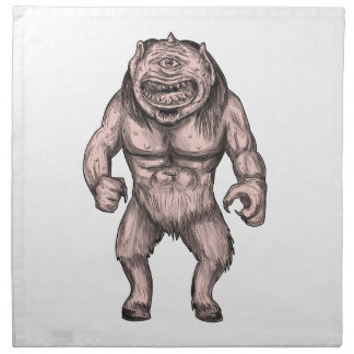 Cyclops Standing Tattoo Napkin