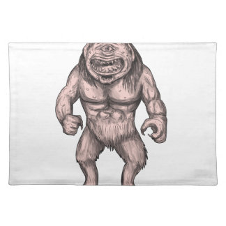 Cyclops Standing Tattoo Placemat