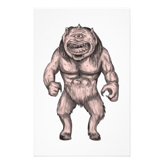 Cyclops Standing Tattoo Stationery