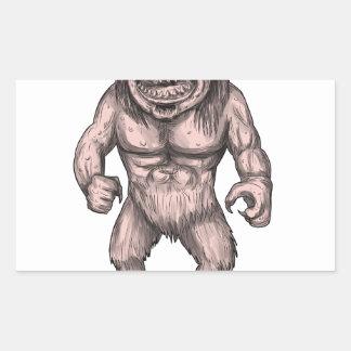Cyclops Standing Tattoo Sticker