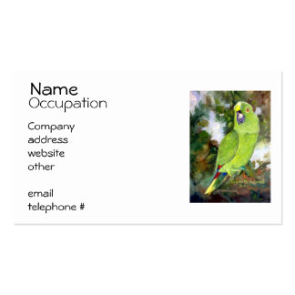 Cydney Yellow Naped Parrot Business Card Templates