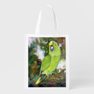Cydney Yellow Naped Parrot Reusable Grocery Bag
