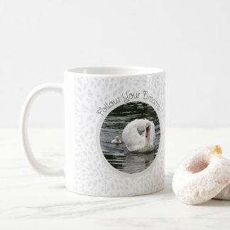 Cygnet Following Swan Coffee Mug