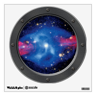 Cygnus A Galaxy X-Ray Montage Porthole Wall Decal