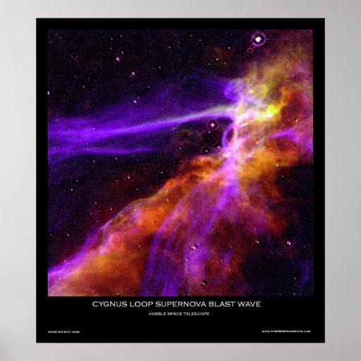 Cygnus Loop Supernova Blast Wave Poster From Space
