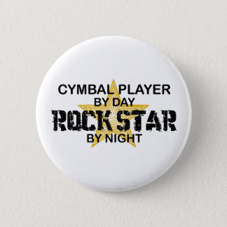 Cymbal Player Rock Star by Night 2 Inch Round Button