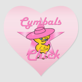 Cymbals Chick #8 Heart Sticker