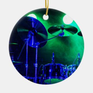 Cymbals in the Fog Ceramic Ornament