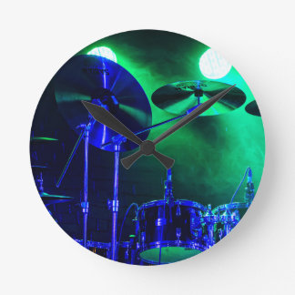 Cymbals in the Fog Round Clock