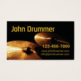cymbals, John Drummer, www.johndrummer.cominfo@... Business Card